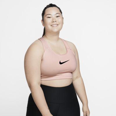 Nike Sujetador deportivo de sujeción media con Swoosh (Talla grande) - Mujer