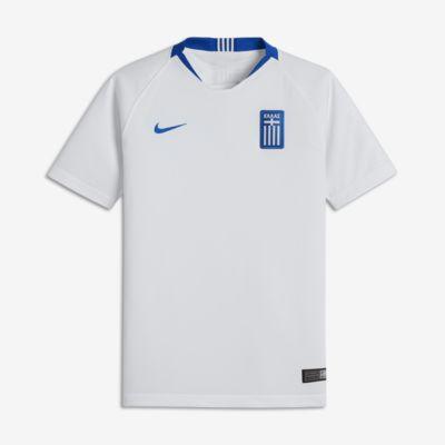 2018 Griechenland Stadium Home Fußballtrikot für ältere Kinder