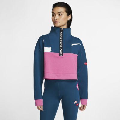 Nike Pro Get Fit Icon Clash Chaqueta de tejido Fleece con media cremallera - Mujer