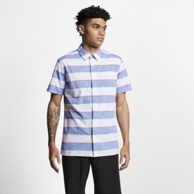 Hurley Blocked Men's Striped Short-Sleeve Shirt