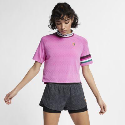 Kortärmad tenniströja NikeCourt Breathe Slam för kvinnor