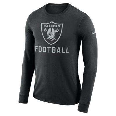 Nike Dri-FIT Seismic (NFL Raiders) Men's Long-Sleeve T-Shirt
