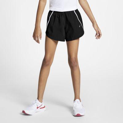 Купить Беговые шорты для девочек школьного возраста Nike Dri-FIT Run 8 см, Черный/Черный/Белый/Белый, 21428870, 12226605