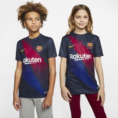 Kortärmad fotbollströja Nike Dri-FIT FC Barcelona för ungdom