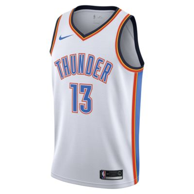 俄克拉荷马城雷霆队 (Paul George) Association Edition Swingman Jersey Nike NBA Connected Jersey 男子球衣