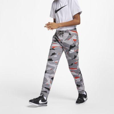 Pantalones de entrenamiento camuflados para niño talla grande Nike Sportswear