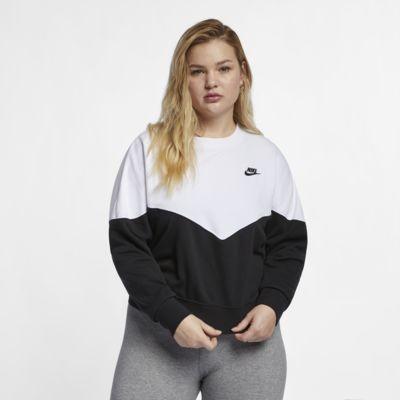Nike Sportswear Heritage Fleece-Rundhalsshirt für Damen (große Größe)