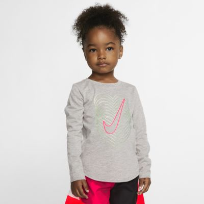 Nike-langærmet T-shirt til småbørn
