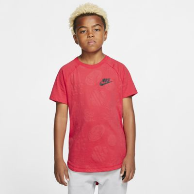 Prenda para la parte superior con estampado para niño talla grande Nike Sportswear