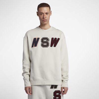 Nike Sportswear NSW Fleece-Rundhalsshirt mit lockerer Passform für Herren