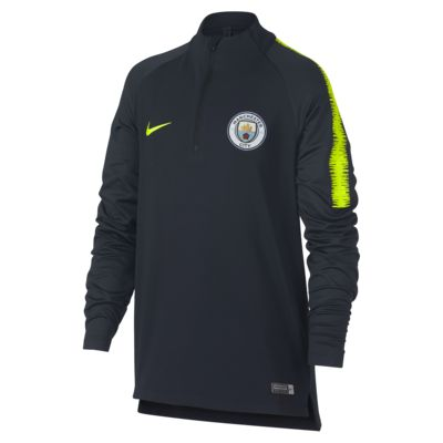Manchester City FC Dri-FIT Squad Drill Older Kids' Long-Sleeve Football Top