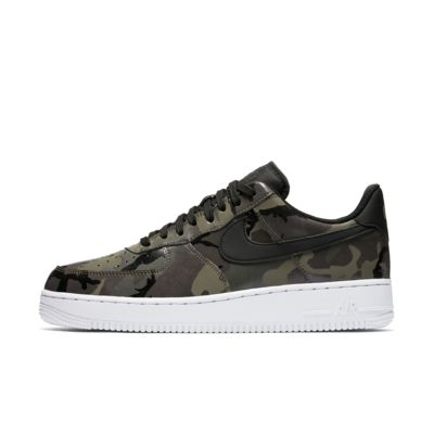 Nike Air Force 1 '07 Low Camo Men's Lifestyle Shoes Green wY3473E