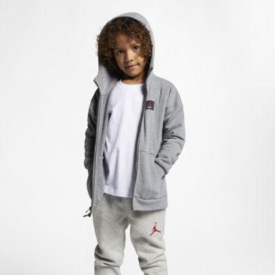 Jordan Flight Lite-hættetrøje med lynlås til små børn