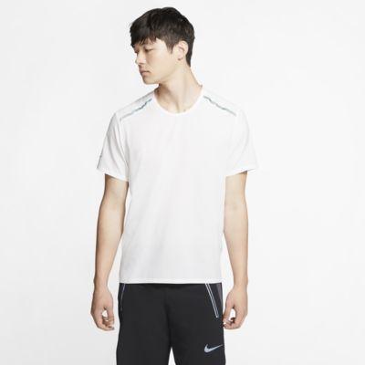 Kortærmet Nike-løbeoverdel til mænd