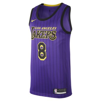 洛杉矶湖人队 (Kobe Bryant) City Edition Swingman Nike NBA Connected Jersey 男子球衣
