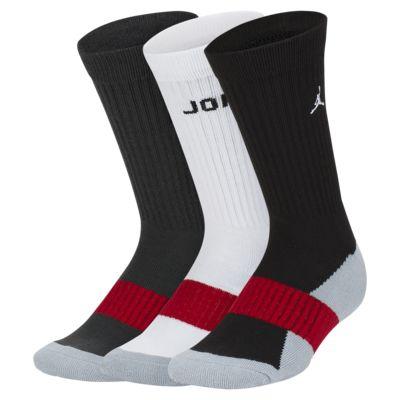 Jordan párnázott sportzokni nagyobb fiúknak (3 darabos csomag)