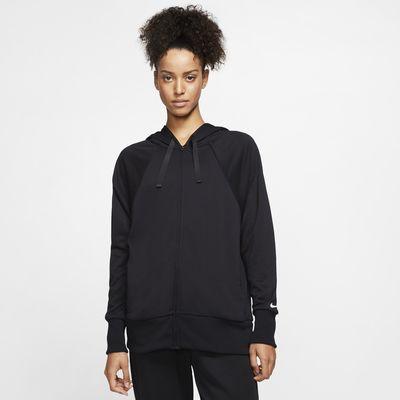 Damska dzianinowa bluza treningowa z kapturem i zamkiem na całej długości Nike Dri-FIT Get Fit