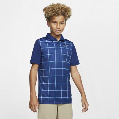 Nike Dri-FIT Baskılı Genç Çocuk (Erkek) Golf Polo Üst