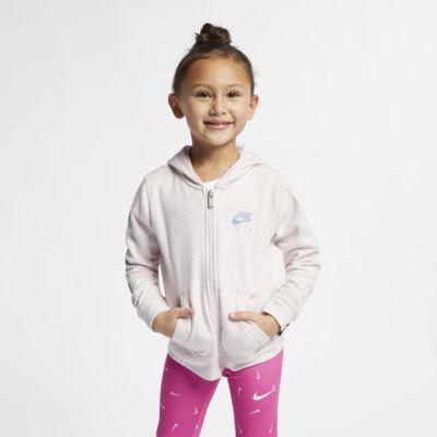 Mikina s kapucí a dlouhým zipem Nike Air pro malé děti