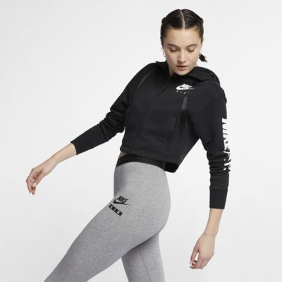 Dámská flísová mikina Nike Air s kapucí a zipem po celé délce