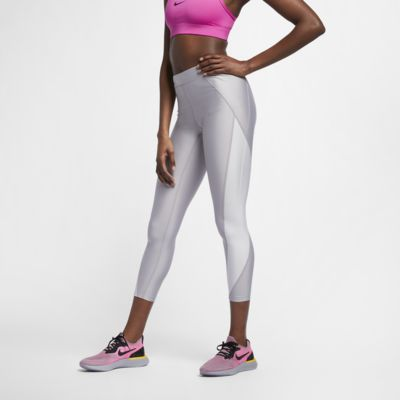 Nike Speed  Women's 7/8 Mid-Rise Metallic Running Tights