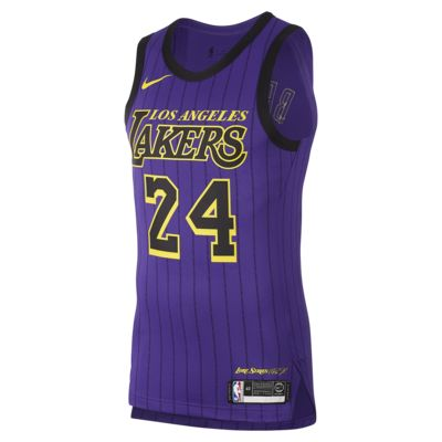 Kobe Bryant City Edition Authentic (Los Angeles Lakers) Men's Nike NBA Connected Jersey