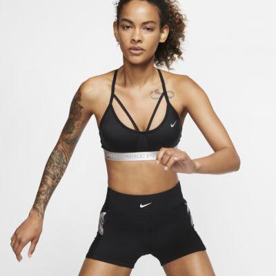 Nike Pro AeroAdapt Indy sports-BH med lett støtte til dame