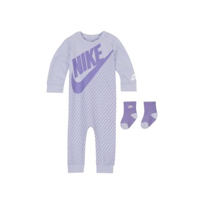 Nike Sportswear Baby (0–9M) Overalls and Socks 2-Piece Set