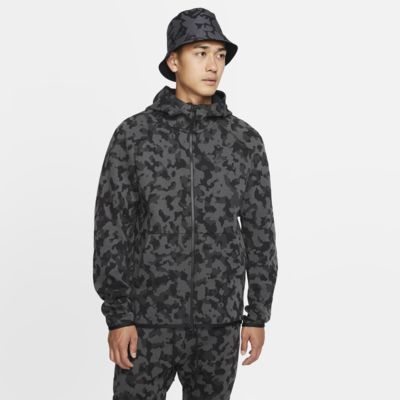 Nike Sportswear Tech Fleece-hættetrøje med print og lynlås til mænd