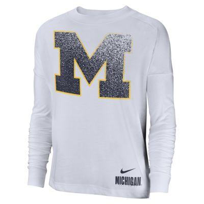 Nike College Breathe (Michigan) Women's Long-Sleeve Top