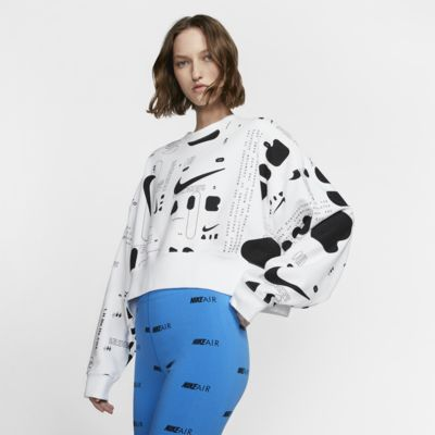 Camisola de lã cardada estampada Nike Air para mulher