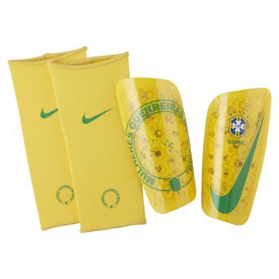 Caneleiras de futebol Brasil Mercurial Lite