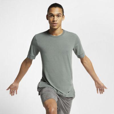 Nike Dri-FIT rövid ujjú férfi edzőfelső jógához