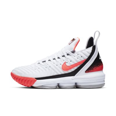 LeBron XVI Hot Lava White Basketball Shoe