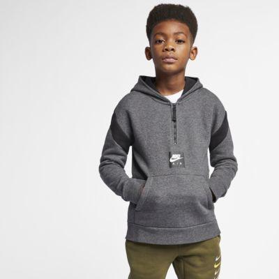 Nike Air Hoodie mit Halbreißverschluss für ältere Kinder (Jungen)