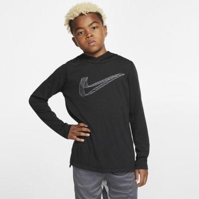 Nike Breathe Boys' Long-Sleeve Hooded Training Top