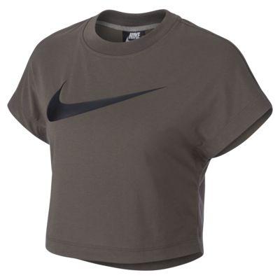 Nike Sportswear Swoosh mintás, rövid ujjú, rövidített szabású női felső