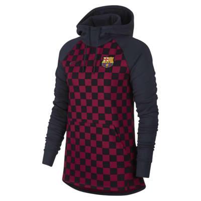 Fleecehuvtröja FC Barcelona för kvinnor