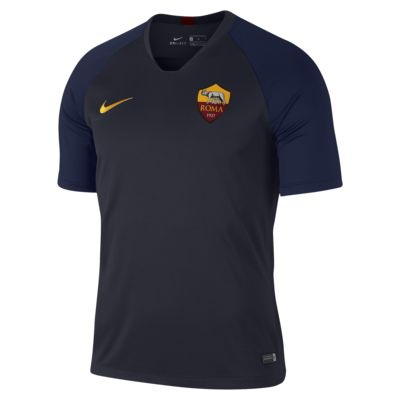 Męska koszulka piłkarska z krótkim rękawem Nike Breathe A.S. Roma Strike