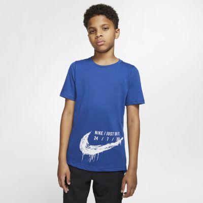 Nike Breathe Kurzarm-Trainingsoberteil für ältere Kinder