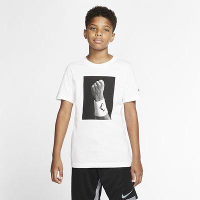 Tennis-t-shirt Rafa med grafik för ungdom (killar)