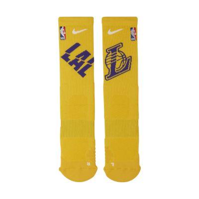 Los Angeles Lakers Nike Elite NBA Crew Socks
