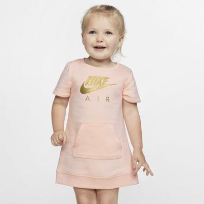 Dzianinowa sukienka z krótkim rękawem dla maluchów Nike Sportswear Air