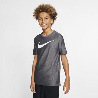 Kortærmet Nike Dri-FIT-træningsoverdel til drenge