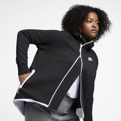 Nike Sportswear Tech Fleece Damen-Poncho mit durchgehendem Reißverschluss (große Größe)