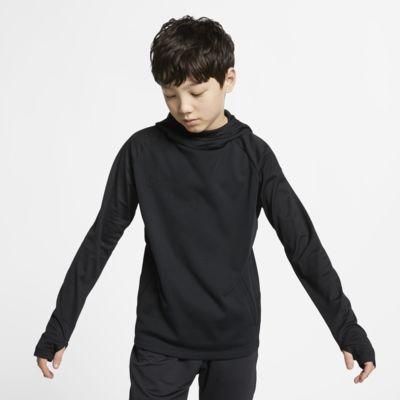 Fotbalová mikina s kapucí Nike Dri-FIT Academy pro větší děti