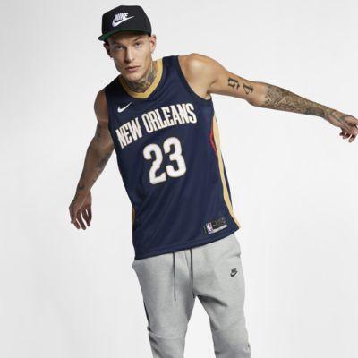 Купить Мужское джерси Nike НБА Anthony Davis (nba) Icon Edition Swingman (New Orleans Pelicans) с технологией NikeConnect