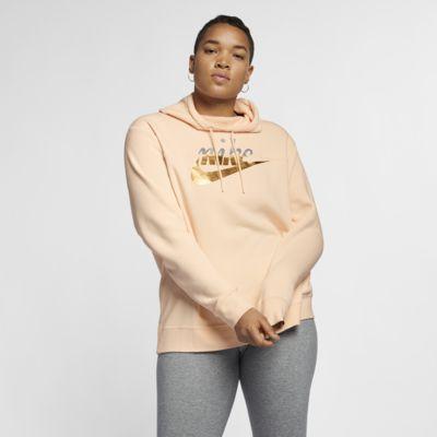 Nike Sportswear Rally Women's Metallic Hoodie (Plus Size)