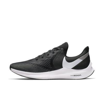 Купить Мужские беговые кроссовки Nike Air Zoom Winflo 6, Черный/Темно-серый/Платиновый металлик/Белый, 22868655, 12548143
