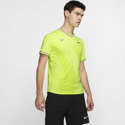 Top de tenis de manga corta para hombre NikeCourt AeroReact Rafa